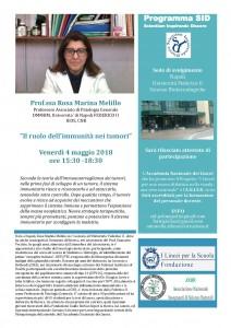 locandina prof. Rosa Marina Melillo